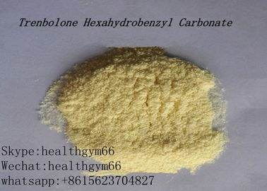 China CAS 23454-33-3 Healthy Parabolan Nandrolone Steroid Tren Hexahydrobenzylcarbonate Yellow Powder supplier